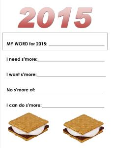 S'Mores New Year's Resolutions
